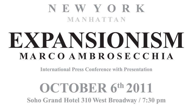 Soho Grand Hotel – New York<br/>Presentazione Expansionism